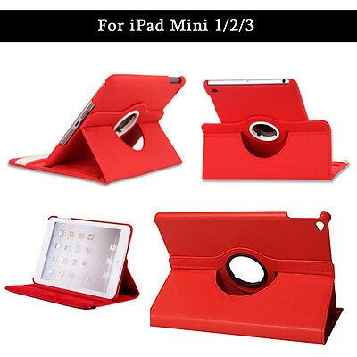 Leather 360 Degree Rotating Smart Case Cover For APPLE iPad mini 1 2 3 [R053