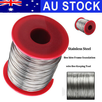 AU 500g 0.5mm Stainless Steel Bee Hive Beehive Frame Foundation Wire Bee Keeping