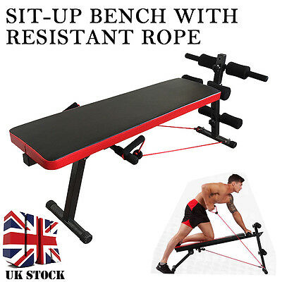 New AB Abdominal Sit Up Bench Workout Fitness Exercise Training Home Gym+Rope
