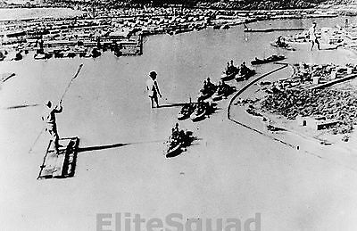 WW2 Photo Model of Pearl Harbor use by Japanese Army 1942 #027