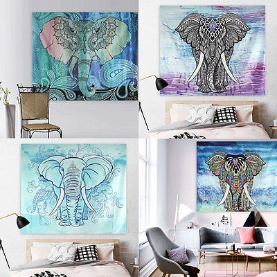 Indian Decor Elephant Mandala Tapestry Wall Hanging Hippie Gypsy Throw Bedspread