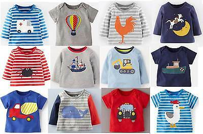 Mini Boden boys baby cotton applique top t-shirt  new shirt tee applique logo