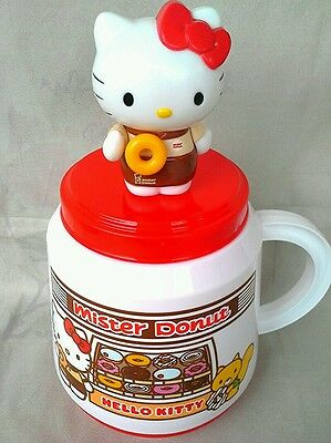 water cup mister donut pattern sanrio hello kitty beautiful rare collection