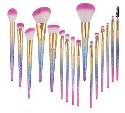 Professional 10 Pieces Kabuki Style Powder Blusher Make up Brush Set Kit Contour