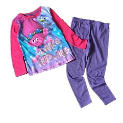 Official Dreamworks Trolls Poppy Kids Girls Pyjamas Cartoon Nightwear Xmas Gift