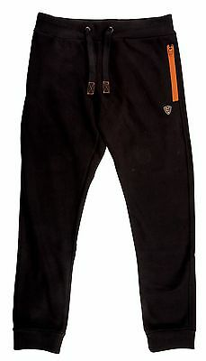 Fox Carp Fishing Clothing *New Style* Black and Orange Joggers / Jogging Bottoms