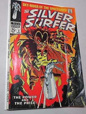 The Silver Surfer #3 (Dec 1968, Marvel) 1st Appearance Of Mephisto