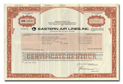Eastern Air Lines, Inc. Stock Certificate