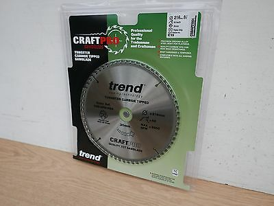 Trend 216Mm 64T Tct Saw Blade For Plastic & Aluminium Csb/ap21664 Dewalt Etc