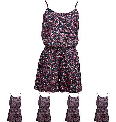 MODA Ribbon Girls Playsuit Light Navy/Red 11-12 Years 146cm Height Size 11