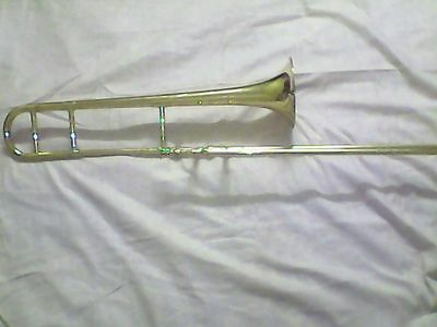 Trombone Slide Trombone Without Valve With Slide W/free Case Brand New Mouthpiec