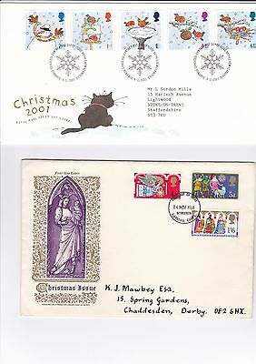 GB 8 x Lovely Christmas First day covers + 4 PHQ cards - 16/236