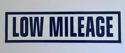 Low Mileage 10x Self Cling Car Sales Window Reusable Display Stickers