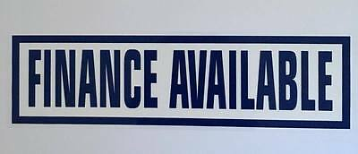 Finance Available 10x Self Cling Car Sales Window Reusable Display Stickers