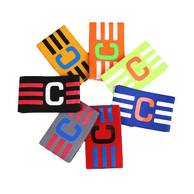 Football Captain Skipper Armband Hockey Rugby Sports Competition Adjustable Band