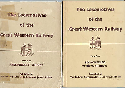 'The LOCOMOTIVES of the GREAT WESTERN RAILWAY' Books x2 - part 1 & 4