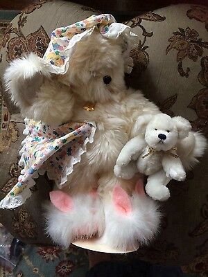 Annette Funicello Collectible Bedtime Bear with Blanket and Little Bear