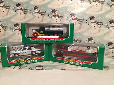 (3) Hess Mini Trucks 2000 Truck And 2002 Voyager 2003 Car   Great Condition