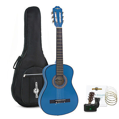 Junior 1/2 Classical Guitar Pack Blue by Gear4music