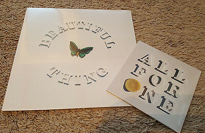 """The Stone Roses: Beautiful Thing 12""""  & One for All  7"""" Vinyl Brand New Numbered"""