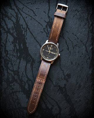 Land Rover Genuine Brown Leather Strap Heritage Watch
