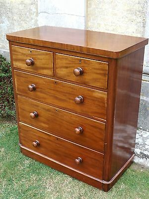 Fabulous  Antique Victorian Chest Of Drawers