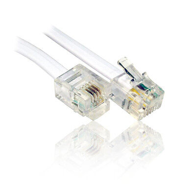 5m ADSL RJ11 Cable, Lead, Wire for use with BT, Broadband Router Modem Home Hub
