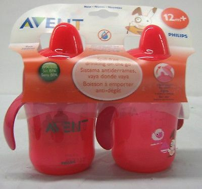 Avent Spill-free Hard Spout Cups, 9 oz, 2 Ct - Colors & Styles Vary