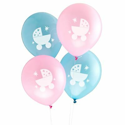 8 Tiny Feet Latex Balloons Baby Shower Neutral Party Decorations Pink Blue