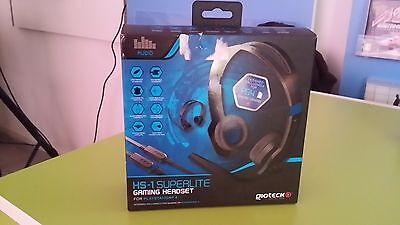 Headset HS1 superlite - Cuffie gaming con microfono - Ps4 - Nuovo - gioteck