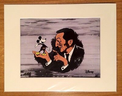 "#11 Walt Disney With Mickey Mouse Hand Painted Cel Mounted 14""x11"" New & Sealed."