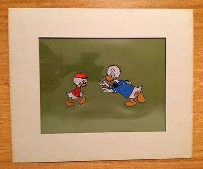 #154 Original Walt Disney Hand Painted Donald Duck Production Celluloid With COA