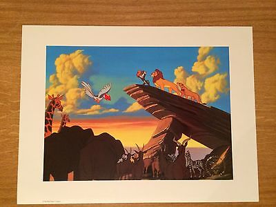 #231 Walt Disney The Lion King Exclusive Commemorative Lithograph With Envelope.