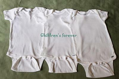 Gerber Baby Bodysuit Toddler Girl Or Boy Clothes White Cotton 3 Pieces Lot 24 M