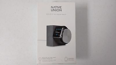 Native Union DOCK-AW-SL-GRY Dock for the Apple 38mm and 42mm Apple Watch  NEW