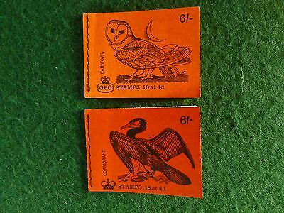 2 Part Used Stamp Booklets. 1 with 6 and the other with 4 Stamps. As Photos.