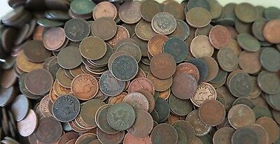 100 Mixed Indian Head Penny ROLL // Average Circulated // 1800's-1900's + BONUS