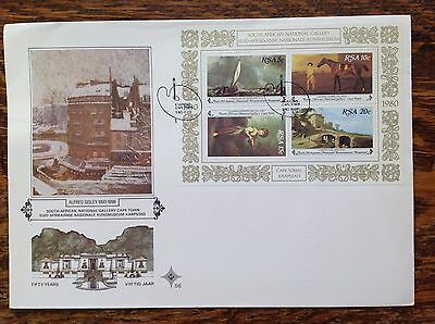 South Africa 1980 First Day Cover/mini Sheet National Gallery