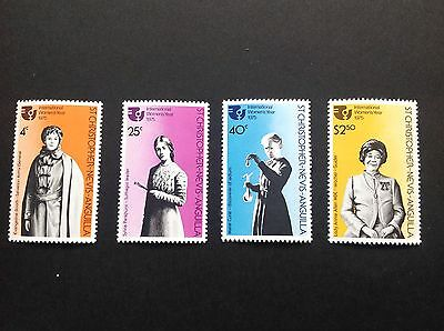 St Christopher-Nevis-Anguilla 1975 International Women's Year Stamps MNH !