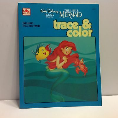 Disney's The Little Mermaid Trace & Color Book!