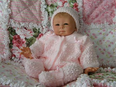 ADORABLE Knit Baby Doll Outfit For Reborn PINK
