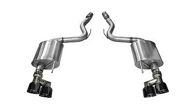 Corsa Performance 14336BLK Touring Axle-Back Exhaust System Fits 15-17 Mustang