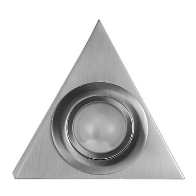 Brushed Chrome Triangle Under Kitchen Cupboard Cabinet Display Lamps Lights