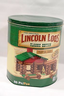 Lincoln Logs Classic Edition Tin 83 Pcs
