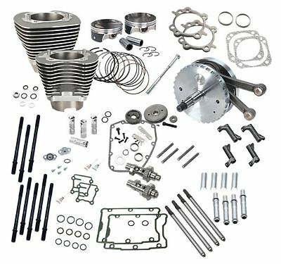 """S&s 124"""" Hot Set Up Kit W/ 640Ge Cam For Harley 07-16 Cvo 110 Engines Stone Gray"""