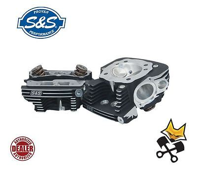 S&s B2 Cylinder Heads W/ Stock Bolt Pattern Harley 1999-16 Twin Cam 900-0458 Blk