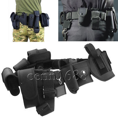Police Officer Security Guard Law Enforcement Equipment Duty Belt Rig Gear Nylon