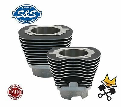"S&s 4-1/8"" Big Bore 124"" Cylinder Set 2007-Up Harley Twin Cam Black 910-0401"