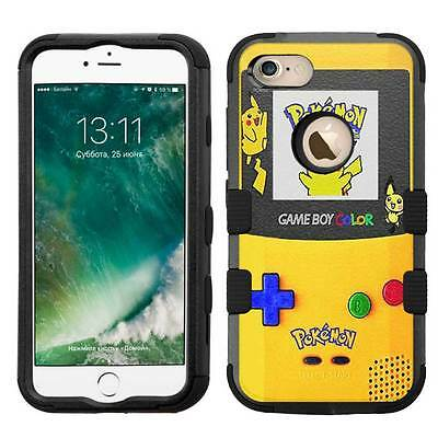 Pokemon Pikachu Gameboy Rugged Hybrid Armor Case for iPhone 5/5s/SE/6/6s/7/Plus