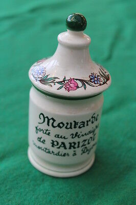 Parizot Vintage French Mustard Pot With Lid